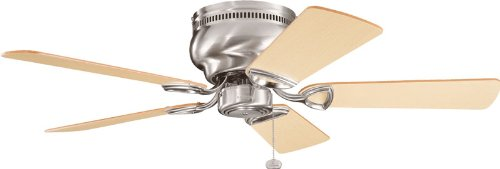 "Kichler 339017BSS, Stratmoor Brushed Stainless Steel Flush Mount 42"" Ceiling Fan from KICHLER"