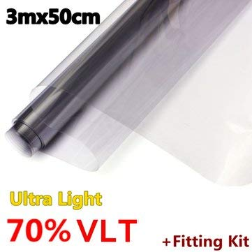 3mx50cm Car Auto Home Window Glass Tint Film Tinting LVT ULTRA LIMO Dark Black - Exterior Accessories Car Protective Film - (005) - 1 X Camouflage Net -