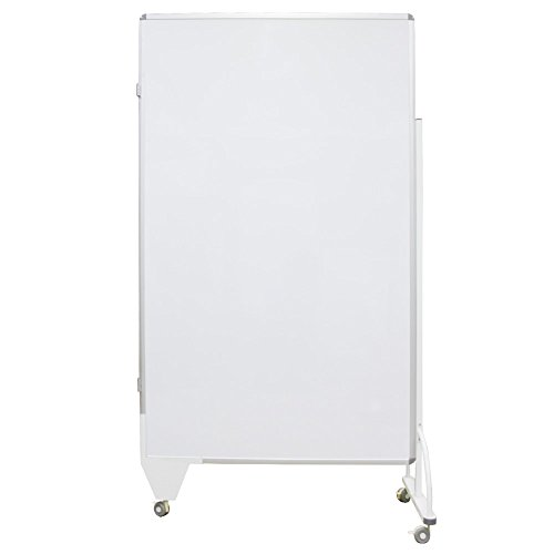 VIZ-PRO Platypus Room Divider Base Board/Office Partition,Double-sided Magnetic Whiteboard,48''Wx72''H by VIZ-PRO