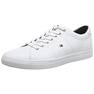 Tommy Hilfiger Essential Leather Sneaker, Baskets Basses Homme