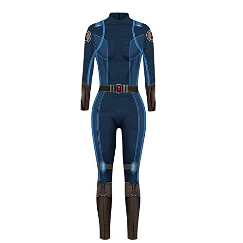 Adult Wowen Super Hero Jumpsuit Black Widow Cosplay Costume Halloween Bodysuit Clothes ()