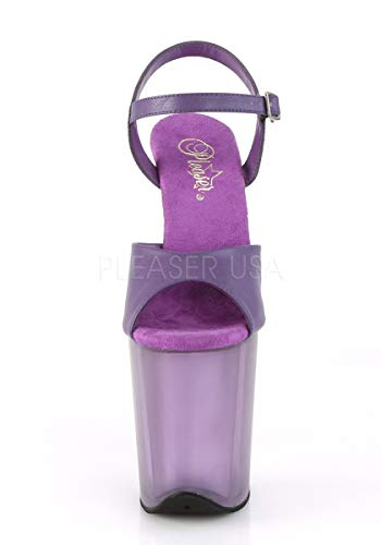 708uvg Pleaser Faux frosted Leather Adore Purple pwqRwz