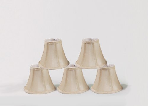 Urbanest Chandelier Lamp Shades, Set of 5, Soft Bell 3x6x5