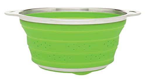 HIC Harold Import Co. 30034 Collapsible Colander, 3-Quart, Green - Collapsible Quart 3