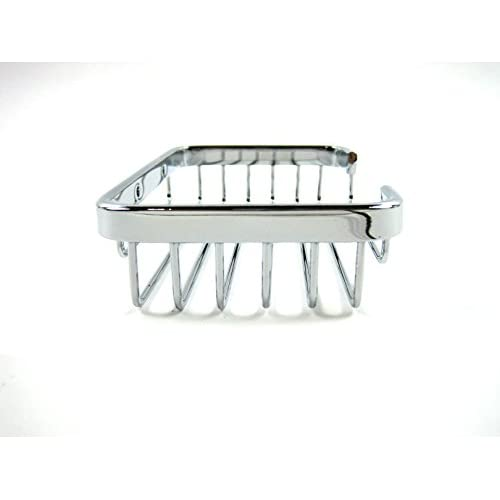 85%OFF Small Stainless Steel Wire Bath Caddy Wall Mounted Bathroom Organizer Shelf
