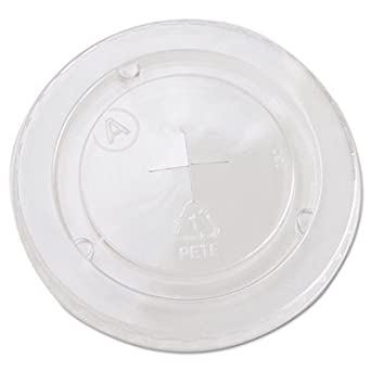 Boardwalk YLP20C Cold Cup Straw-Slot Lids, 20oz Cups, Clear (Case of 1020)