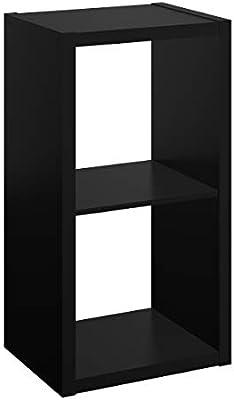 Closetmaid 4540 Decorative Open Back 2 Cube Storage Organizer Black