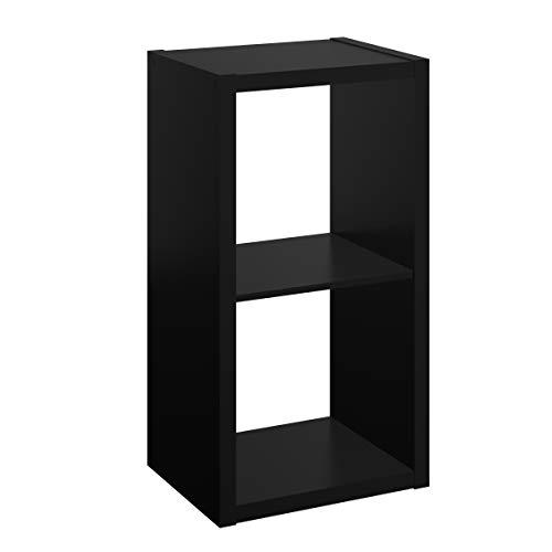 2 Cube Pack - ClosetMaid 4540 Decorative Open Back 2-Cube Storage Organizer, Black