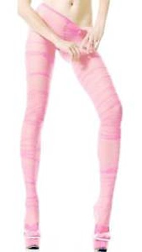Baby Flashdance Costume (Ruched Fit Sheer Tights Baby Pink Grunge)