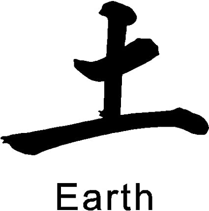 Amazoncom Chinese Symbol Earth Wall Decal Removable Wall Sticker