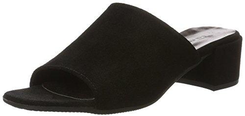 Tamaris 27224, Sandalias de Tacón Cuadrado Mujer Negro (Black 001)
