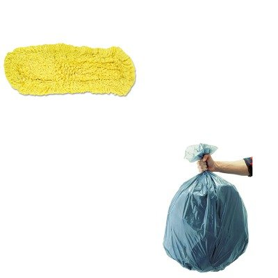 KITRCP501188GRARCPJ15200YEL - Value Kit - Rubbermaid-Dust Mop, Trapper, Looped,1 8X5 (RCPJ15200YEL) and Rubbermaid 5011-88 Tuffmade Polyliner Low-Density Can Liners, 55 Gallons (Rubbermaid Trapper)