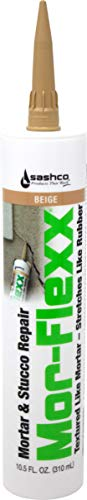 Sashco Mor-Flexx Caulking for Mortar, 10.5 Ounce Cartridge, Beige (Pack of 12)