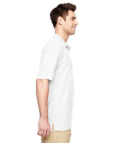 Gildan Dry Blend-Jersey Knit Polo Weiß L