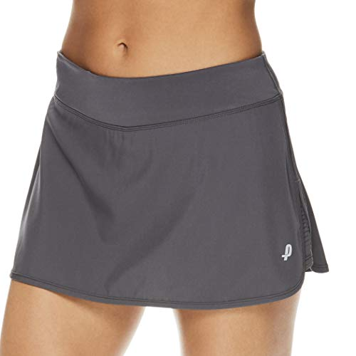 Penn Women's Spike Athletic Mini Skort for Performance Training Tennis Golf & Running - Medium Grey, Medium (Women Tennis Clothes)