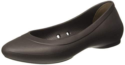 Brown Croc Flat - crocs Women's Lina Ballet Flat, Espresso, 5 M US