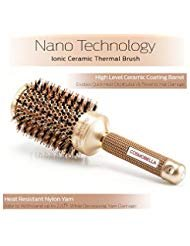 Cosmobella™ Professional Grade | Round Thermal Ceramic & Ionic Hair Brush | Natural Boar Bristles | Nano Technology | 2 Inch Barrel (Cruelty-Free) Ideal for Mid-Long Hair | Blowout Brush