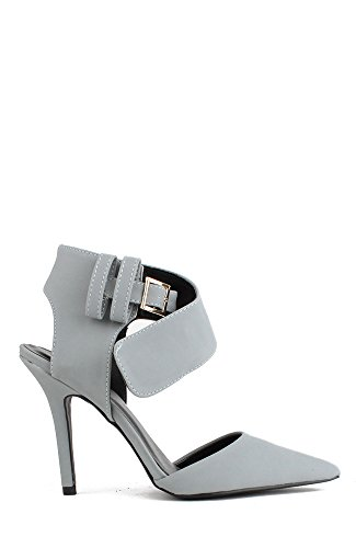 Qupid Mixi-20 Pointy Toe Ankle Strap Sanal