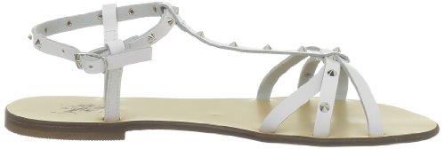 US Polo Assn - Sandalias de cuero para mujer Blanco (Blanc (Whi))