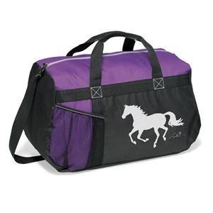 Dover Saddlery Running Horse Duffel Bag - Purple, 11
