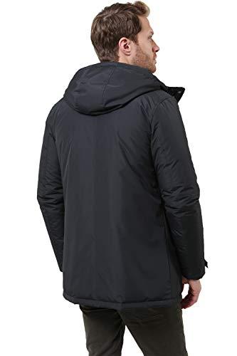 Tana Navy Imbottito Giubbotto Matrix Blu Uomo Cappuccio Up Threadbare Zip Cappotto 7wzq8