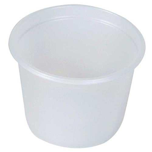 Dixie Plastic Translucent Souffle Portion Cup, 1 Ounce -- 4800 per case.