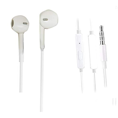 KRISH in Ear Round Wired Earphone with Mic 3.5mm Jack Headsets Compatible with Samsung Galaxy M01