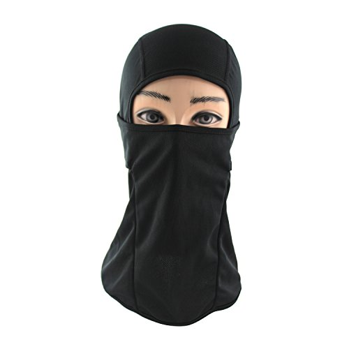 Premium Balaclava Multipurpose Black Mask - Wear It on a Motorcycle, for Cycling, or As a Beanie, Gaiter, Ski Hat, Ski Masks, & Hood – for Men & Women - Protect Your Face From the Cold, Sun, & (Skull Sock Mask)