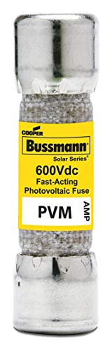 Eaton BUSSMANN 4A Fast Acting Cylindrical Photovoltaic Fuse with 600VDC Voltage Rating; PVM -