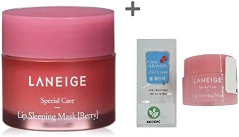 Laneige Lip Sleeping Mask,Berry 0.7oz(20g) + 3g +Gift (Form Cleanser)
