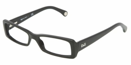 D&g By Dolce & Gabbana Women's 1193 Black Frame Plastic Eyeglasses, - Prescription Glasses Dg