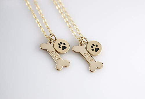 personalized dog paw print necklace