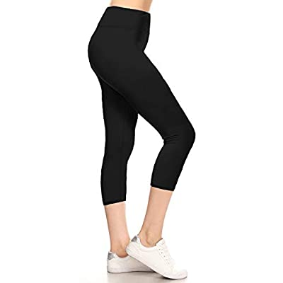 Leggings Depot High Waisted Yoga Capri Leggings -Soft & Slim - 42+ Colors & 1000+ Prints at Women's Clothing store