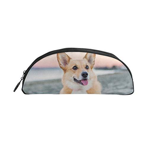 L;nhojnb Cute Dog Large-Capacity Pencil Bag Travel Cosmetic Bag Wash Bag Student Pencil Case Universal