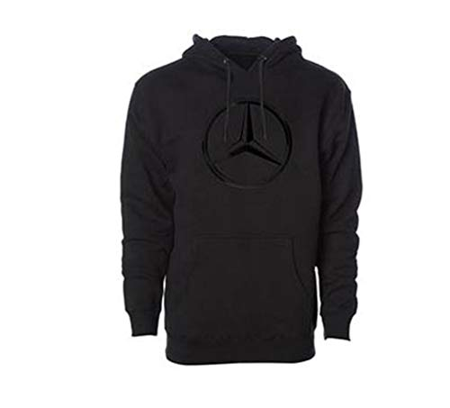 Mercedes Benz Genuine Men's Hoodie Sweatshirt with Black Star Emblem-Medium