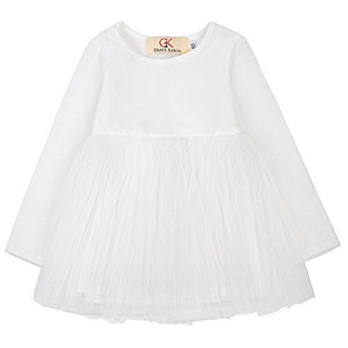 Silk Silhouettes Skirt (GRACE KARIN Flower Girl Two Layer Silk-Like Wedding Party Princess Dress 90 AM1012-4)