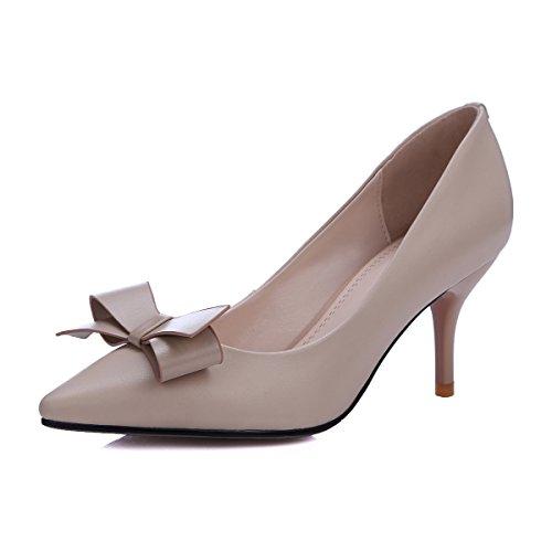 AJUNR Moda/elegante/Transpirable/Sandalias Solo zapatos Sharp cabezas zapatos de mujer finos tacones Almond 8cm tacones altos Treinta y siete 37