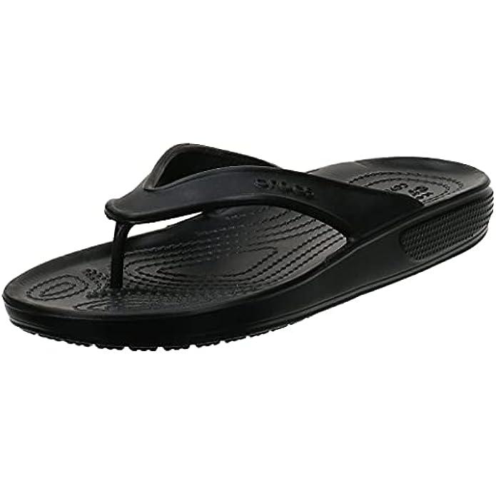 Crocs Men's and Women's Classic II Flip Flops   Adult Sandals, Army Green, 7 Women/5 Men