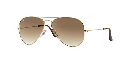 RAY-BAN RB 3025 AVIATOR SUNGLASSES (58 mm, 001/51 ARISTA CRYSTAL/GRADIENT BROWN) by Ray-Ban