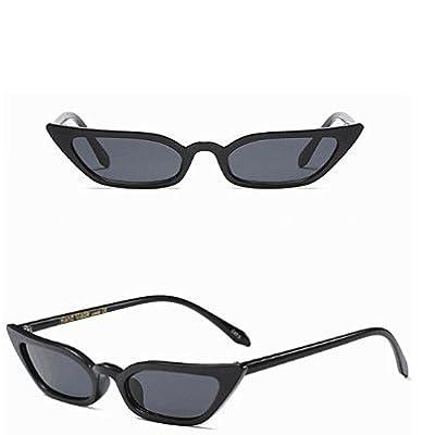2700Lon Noir Gris Lunettes de soleil femelle personnalité Petite boîte Lunettes de soleil 1pièce
