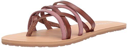Volcom Women's Legacy Mixed Multi Strap Beach Sandal, Light Purple 8 B US