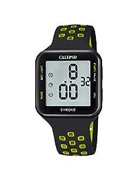 CALYPSO K5748-6 - Reloj digital unisex de goma, color negro y verde
