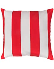 Bambury Outdoor Cushion Outdoor Cushion, Stripe Red