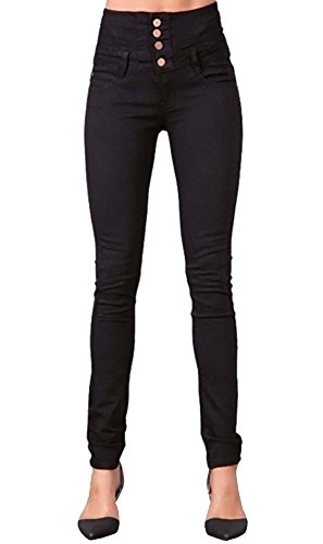 Fashare Womens High Waisted Skinny Jeans Long Stretch Denim Pencil Pants - Leg Pencil High Rise