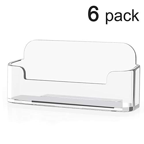 MaxGear Clear Acrylic Business Card Holder Display Office Business Card