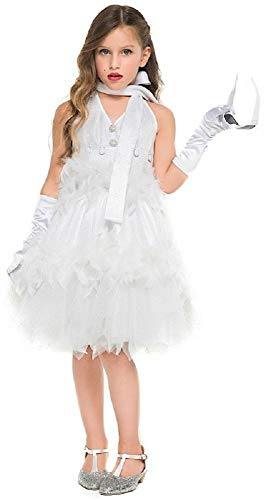 Italian Made Girls Deluxe 1950s Film Star Celebrity Famous Person Halloween Carnival Fancy Dress Costume Outfit 3-10 yaers (9 Years) ()