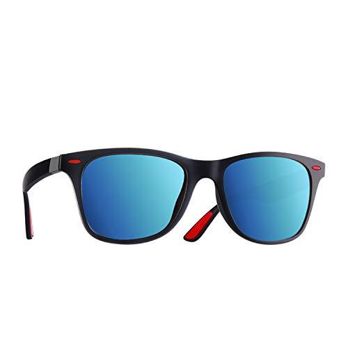 Zombie Jessica Polarized Sunglasses Men Women Driving Square Style Sun Glasses Male Goggle UV400,C6Matte Blue Mirror