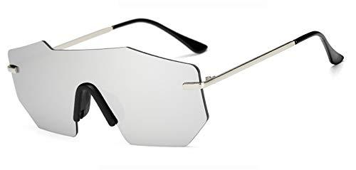 de Moda Montura para sin de Verano Hombres Hombres de de Sol Sol Gafas Espejo Gafas Sol únicas Mujeres de Grandes KOMNY G G Gafas tamaño Gafas Gran OPaqxB