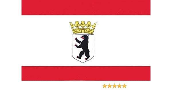 Bandera/bandera Berlin oso de peluche con corona de 90 x 150 cm eysee: Amazon.es: Deportes y aire libre