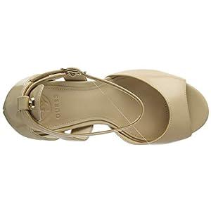 Guess Laurele (Sandal)/Leath, Scarpe con Cinturino alla Caviglia Donna